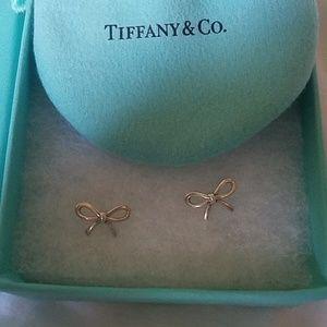 Tiffany & Co dainty bow earrings.